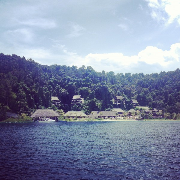 Approaching Gaya Island Resort