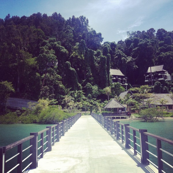 The Jetty Leading to Gaya Island Resort