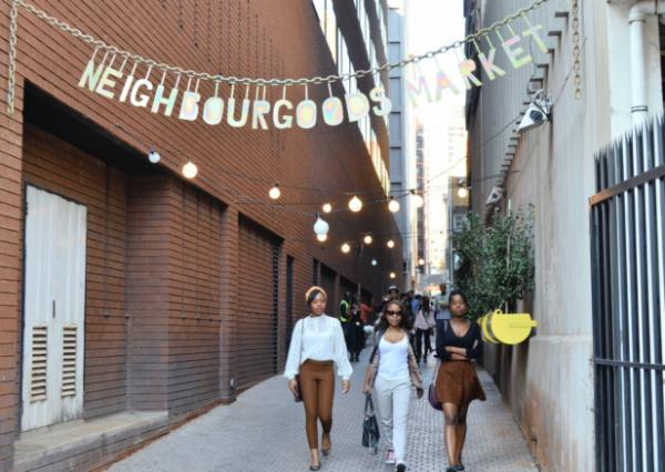 Its markets {Neighbourgoods Market in Braamfontein}