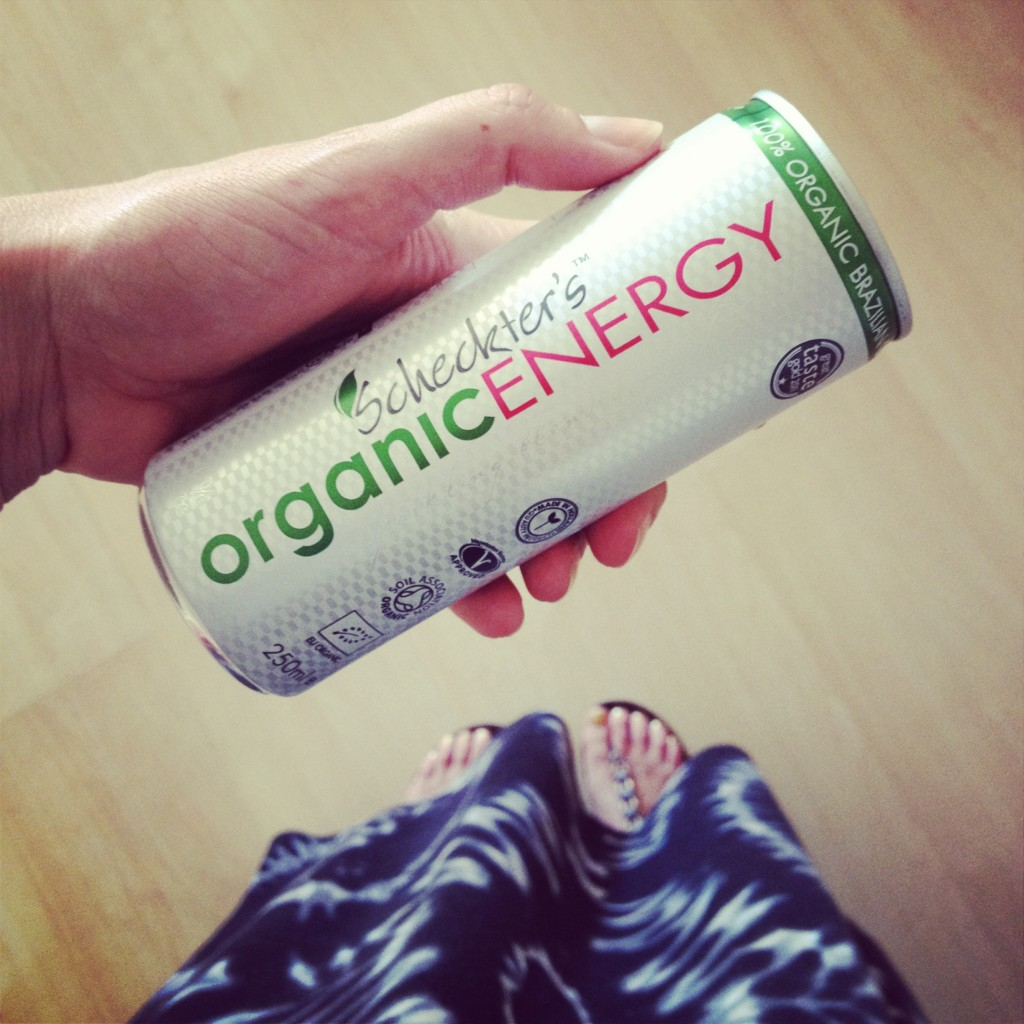 Scheckter's Organic Energy. It's a game-changer. And great with vodka.