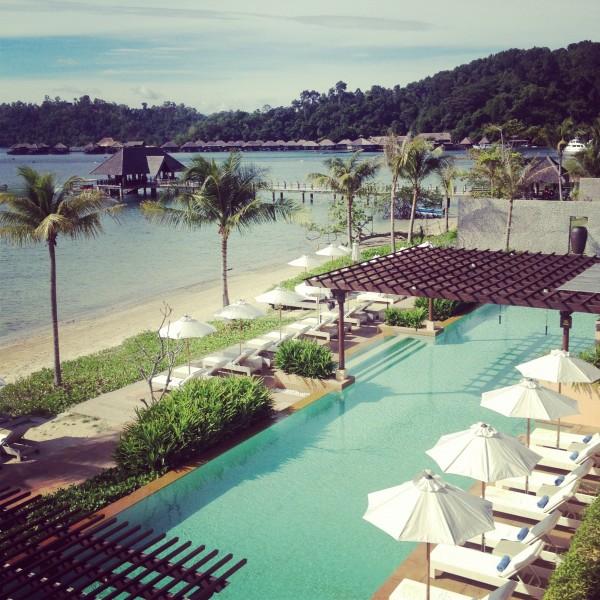 The Pool at Gaya Island Resort