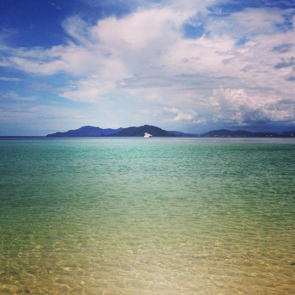 Private Beach in Borneo