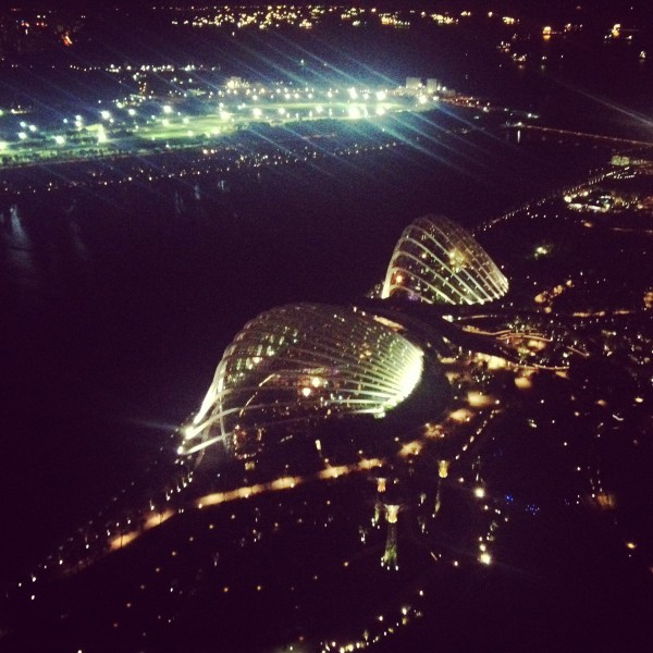 View from the Marina Bay Sands Hotel