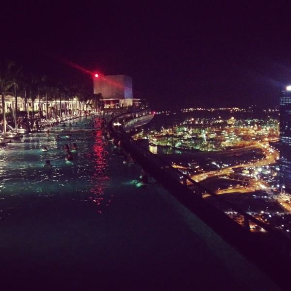 Pool at the Marina Bay Sands Hotel